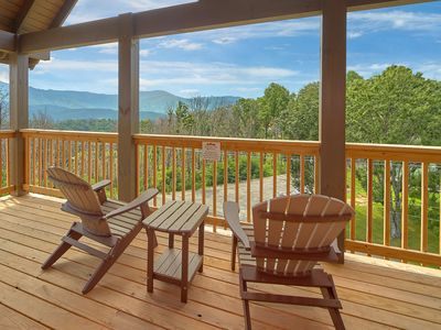 Photo for New luxury cabin with Smoky Mountain View's.