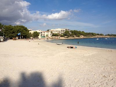 The lovely Platja Es Port, just 2 minutes' walk from the apartment