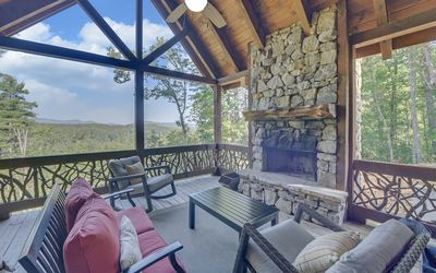 Photo for Forever Views near Toccoa River w/ Hot Tub & Outdoor Fireplace!