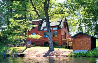 Photo for Must See - Beautiful Lakefront Cabin on a Private Peninsula!