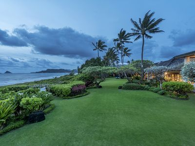 Photo for Kailua Beachfront Private Estate -A/C, Pool, Tennis Court and more- Kai Moena II