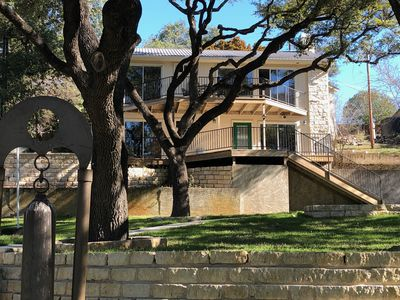 Photo for Beautiful remodeled house on Lake Travis gently sloping lot to private dock