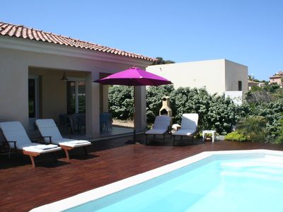 Photo for Villa with pool, 300m from the sea, for 5 people, fully equipped