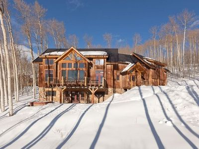 Photo for 5 Bedroom Timber Frame Mountainside Lodge- Spectacular Views of Wilson Peak