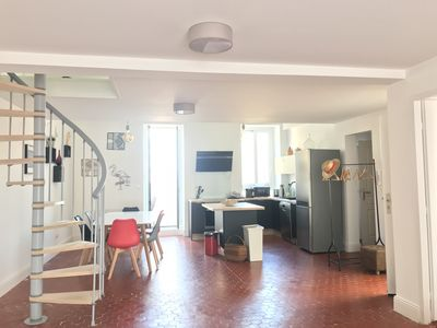Photo for Large, bright apartment with terrace in a prime location