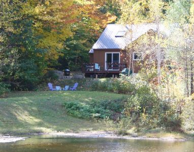 Our vacation home overlooks the pond and has views of the mountains