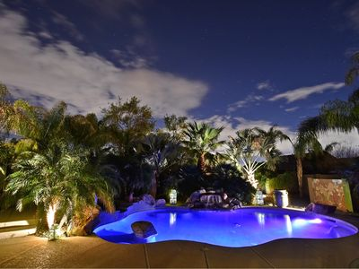 Photo for 20+ Palm Trees, Pool and Spa = Private Retreat!