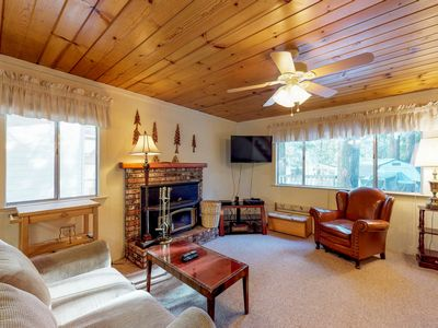 Photo for Dog-friendly cabin w/ game room & huge deck - 3 miles to Shaver Lake