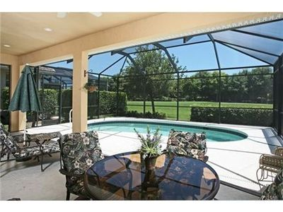 Photo for A cozy hideaway home with pool and barbecue, overlooking the golf course