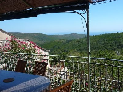 Photo for Great Cottage, 7 seats, Village House, Cap Corse, Maquis and Sea view