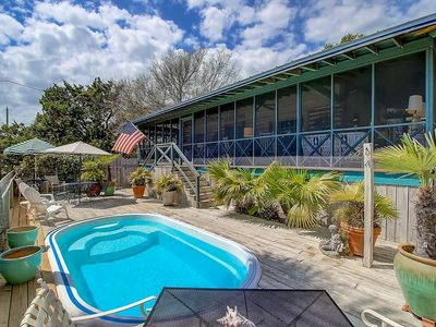 Photo for Happy Landing - Private Pool - 2 BR/1BA - Quaint Cabin on the Beach!