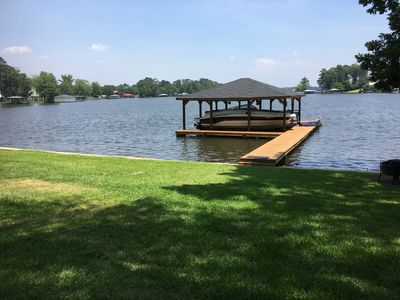 The boathouse and dock.  Great shade beginning around 3 pm!
