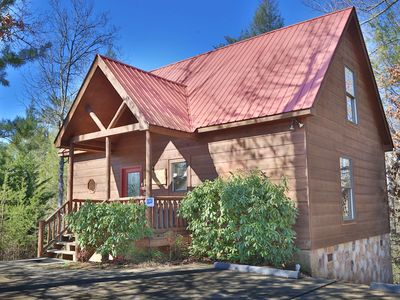 Photo for Beautiful Luxury Log Cabin Near Pigeon Forge with Pool Table & Arcade Game