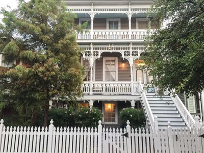 Photo for Beautifully renovated Historical Home sleeps 16. Walk to Strand, restaurants!