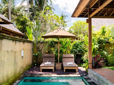 Photo for Forget Daily Worries at a Tranquil Villa in Ubud Center