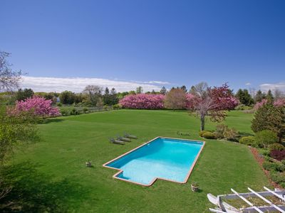 Photo for Stunning Private 4 acre Estate on Preserve near Village/Beach with Heated Pool.