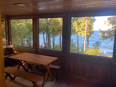 Photo for NEW LISTING! Go back in time to your Grandparent's cottage! Quaint Door County Cabin with sunset views over the shores of Green Bay!