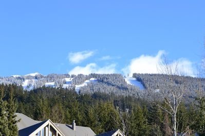 Morning view of Blackcomb from balcony
