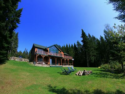 Photo for Secluded , Luxury Adirondack Waterfont in the Great North Woods