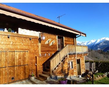 Photo for Savoyard farm 200 m² renovated facing Mt Blanc