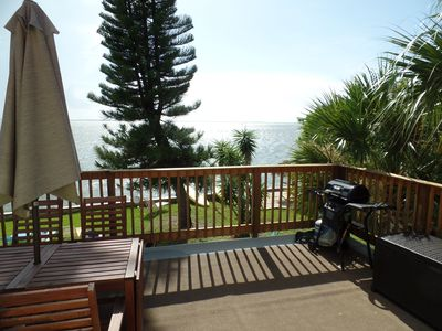 large balcony with BBQ. Relax here for breakfast or watch the sunset.