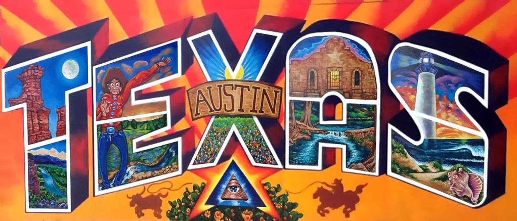 Perfect location in the heart of austin austin texas for Austin mural location