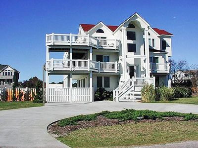 Photo for #4031: Partial OCEANVIEW Corolla w/PRVTPool, HotTub & RecRm, DogFriendly