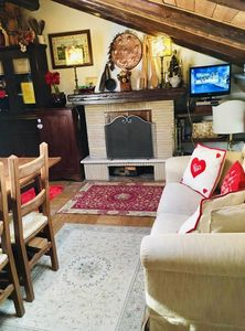 Photo for Beautiful and romantic attic in the center of Roccaraso for 4 people