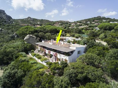 Photo for Mediterranean Cottage with Garden, Terrace, Sea View and Tennis Court; Parking Available, Pets Allowed