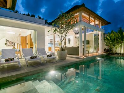 Photo for VILLA BRONTE· Beachside Living in the heart of Canggu.  Sleeps 4 pax, light and bright,  beautiful modern villa 100m from beach!!