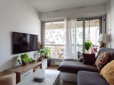 Photo for Amazing 38m2 apartment, with balcony, in Paris 19e district