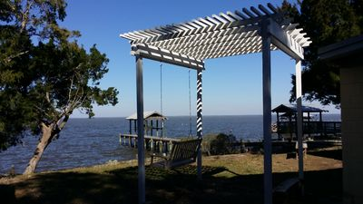 Photo for Get away from it all at Lantana Cottage. Bay front with pier. Small Dog Friendly