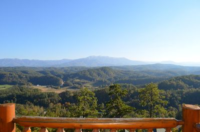 Spectacular view of Mt LeConte and the Great Smoky Mountains National Park