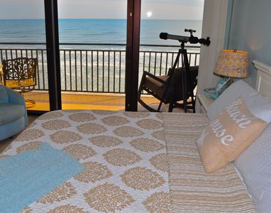 Master Bedroom with beach view from King size bed.