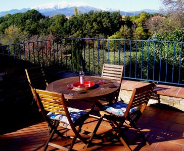 Roof terrace with view of the Canigou
