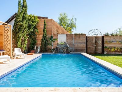 Photo for Beautiful Home Short Walk From Beach with Pool, Fabulous Garden, Terrace & Wi-Fi; Parking Available, Pets Allowed