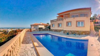 Photo for Modern dream villa with stunning panoramic views of the bay of Denia