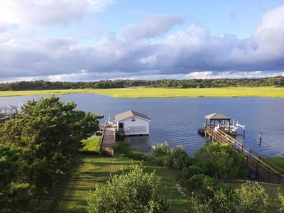 Photo for Wright On The Water: 5 BR / 3 BA home in Oak Island, Sleeps 12