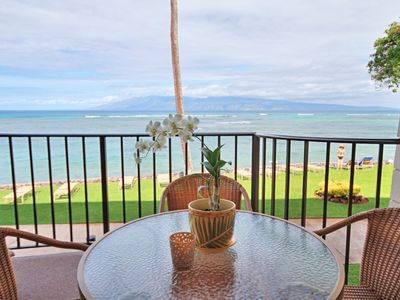 Photo for Seas the day at this direct Ocean Front   Kahana Reef #211