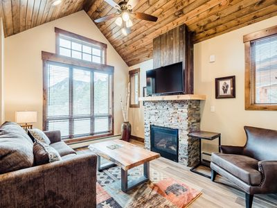 Photo for King suite with Rocky Mountain Views, Fireplace, and Deck
