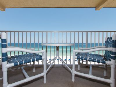 Balcony - A comfortable area to sit and relax to watch the beautiful view of our emerald wters.