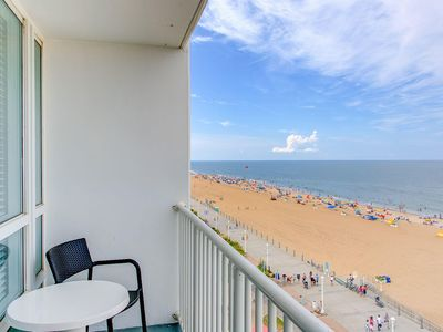 Photo for Suite Oceanfront, 4th of July, Step to Beach, 6/28-7/5, Balcony, F/Kithen