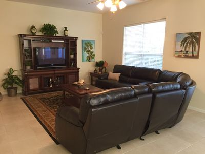Relax and enjoy the comforts of the open floor plan in the family room.