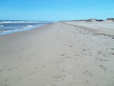 Directly over our dune you'll find this starting point for endless walks