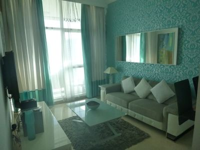 Photo for Twin bed, bright corner apartment, with Maria view,  in Dubai Marina, end of JBR