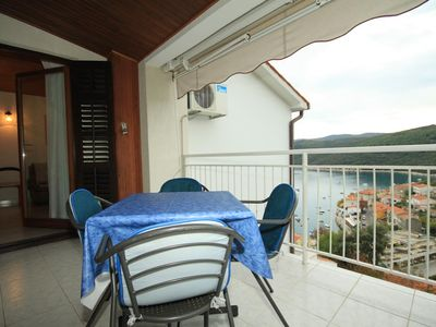 Photo for Two bedroom apartment with terrace and sea view Rabac, Labin (A-7474-a)