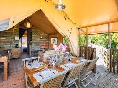 Photo for Luxurious glamping tent with balinese influences up to 6p.