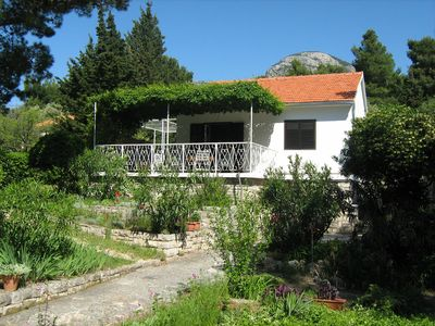 Photo for Waterfront Villa With Private Garden in Bol