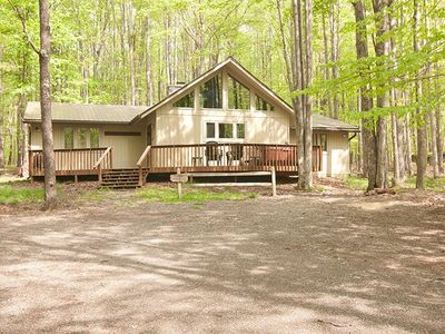 Photo for Timber Haus - Private 5 Acre Lot, Hot Tub, Fireplace, Lake Access