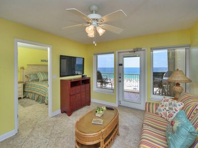 See the Gulf from every place in the condo except the guest Bedroom and bath